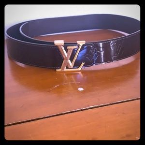 Authentic Louis Vuitton leather belt